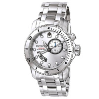 Invicta 6091 Men's Pro Diver Scuba Silver Dial Stainless Steel GMT Watch