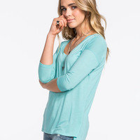 Full Tilt Essential Must Have Womens Tee Mint  In Sizes