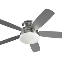 "Monte Carlo 52"" Traverse Semi-Flush Fan - Brushed Steel - Ceiling Fan 5TV52BSD"
