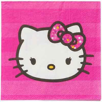Hello Kitty Lunch Napkins, 16 Count,