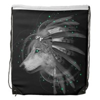 Don't Define Your World (Chief Wolf) Backpack