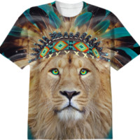 Fight For What You Love • Chief of Dreams: Lion v.2 Unisex T-Shirt II created by soaringanchordesigns | Print All Over Me