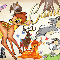 28 Bambi Clipart PNG Disney deer Digital Graphic Image thumper Clip Art Scrapbook Invitations INSTANT DOWNLOAD printable