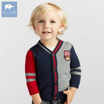 DB8432 dave bella autumn infant baby boys fashion cardigan kids toddler coat children knitted sweater