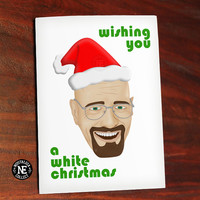 Wishing You A White Christmas - Funny Christmas Card - Breaking Bad Christmas Card - Walter White - 4.5 X 6.25 Inches