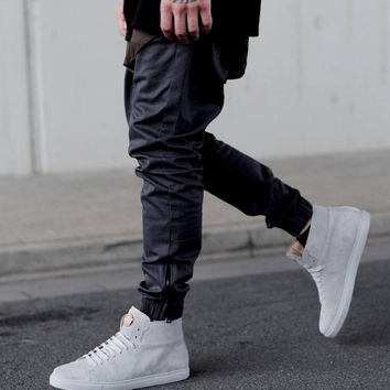 Denim Acetate Joggers