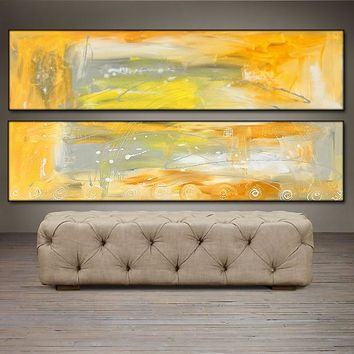 """'As The Sun Arises'- 48"""" X 24"""" Original Abstract  Art.  Free-shipping within USA & 30 day return."""