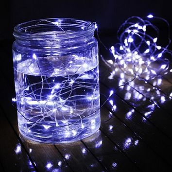 2M 3M 5M 10M waterproof led copper wire string lights wedding party christmas festival decor garland strips 3 AA battery control