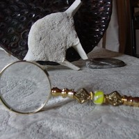 New very different gift a 10X magnfier  gold for a great look | Gwynstone - Accessories on ArtFire