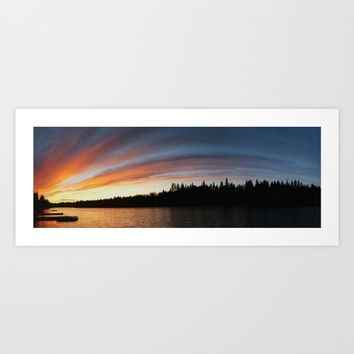 Sunset River Art Print by Sterling