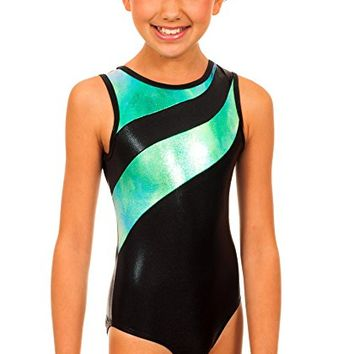 Girl's Samantha Blue/Green Snowcone Leotard