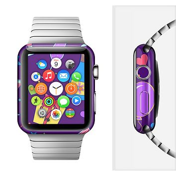The Bright Purple Party Drinks Full-Body Skin Set for the Apple Watch