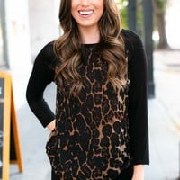 Look Out Animal Print Thin Layering Tee