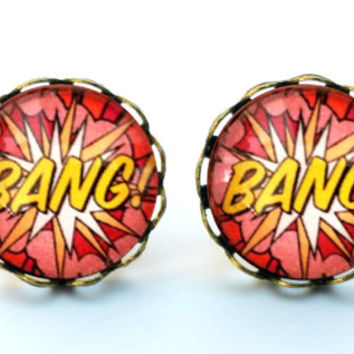 Bang! Round Earrings