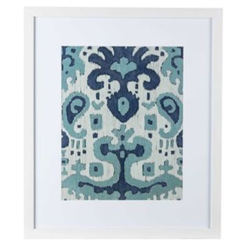 Blue & White Ikat Paisley Framed Wall Art | Shop Hobby Lobby