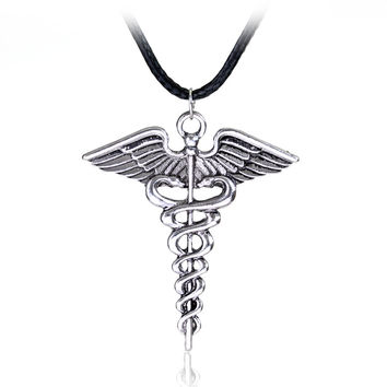 Silver Plated Medical Pendant Necklace