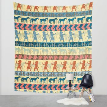 Egyptian Unicorn Pattern Wall Tapestry by That's So Unicorny