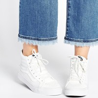 Vans SK8-Hi Perforated White High Top Trainers