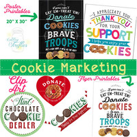 Girl Scout Clip Art,Cookies,Art,Booth,Sales,Signs,Handouts,Posters,Flyers,Thank Yous,Cookie,Girl,Girls,Scout