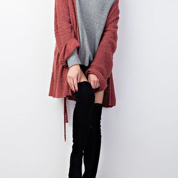 Knitted Sweater Open Cardigan