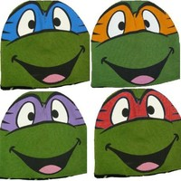 TMNT Teenage Mutant Ninja Turtles Reversible Knit Hat Beanie  - Teenage Mutant Ninja Turtles - | TV Store Online