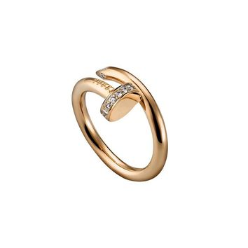 Stylish Shiny Jewelry Gift New Arrival Titanium Strong Character Gold Ring [11337093639]