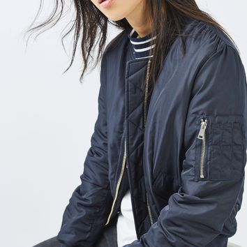 Faux Fur Lined Ma1 Bomber | Topshop
