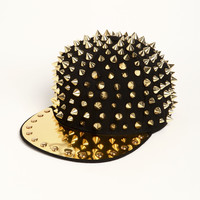 Gold Plated Spike Hat