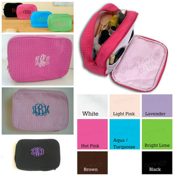 Monogram Cosmetic Bags Personalized Wedding Party Gifts Bride, maid Of Honor, Bridesmaids