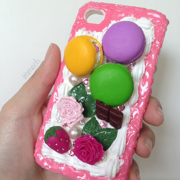 Macaron Macaroon iPhone 4 or 4S Decoden Case