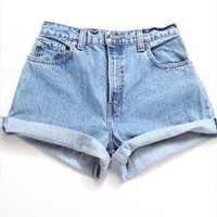 ALL SIZES Vintage Custom Made Rolled up High Waist Shorts  from AudellaBoutique