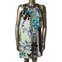 Style & Co. Womens Matte Jersey Printed Casual Dress