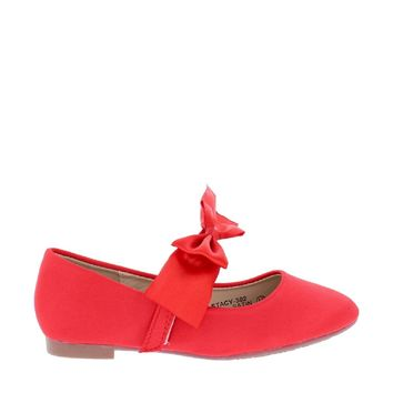 Satin Bow Kids Flat (RED)
