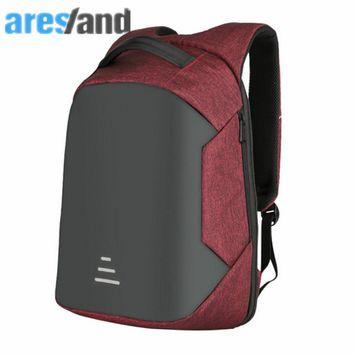 ARESLAND Waterproof Men Laptop Backpack 17 Inch High Grade Male Business Travel Bag Notebook Packsack With Usb Charging