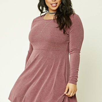 Plus Size Faded Skater Dress