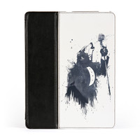 Wolf Song 3 Premium Faux PU Leather Case Flip Case for Apple iPad 2 / 3 and iPad 4 by Balazs Solti