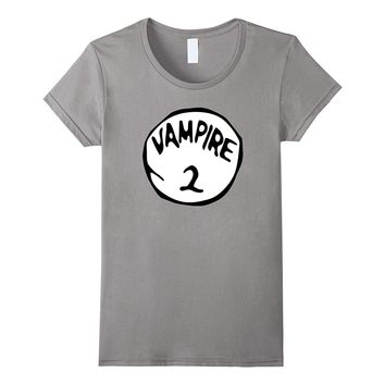 Vampire 2 Scary Count Dracula Halloween Costume T-Shirt