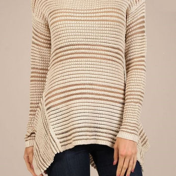 CASSIE Open Weave Sweater Tunic
