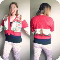 Vintage Teddy Bear Ugly Christmas Party Cardigan Sweater