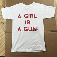 Pleasures A Girl Is A Gun T-Shirt Playboi Carti White SM Small