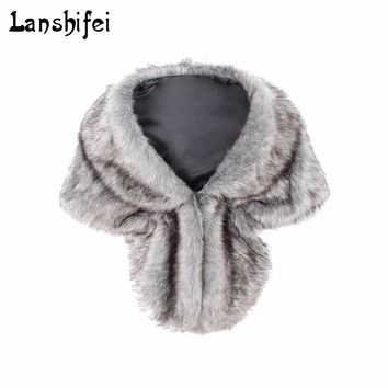 Chic Soft High quality Faux Fur Sleeveless Vest Amice Luxury Warm Turn-down Collar Women Winter Fashion furs Women Coats Jacket