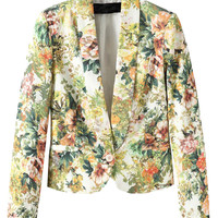 Fall Fashion Floral Slim Blazer