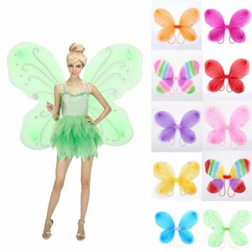 Beautiful NEW Elf Fairy Wing Butterfly Wings 42*31cm Supplies Costume Girls Christmas Dress Up Drop Shipping