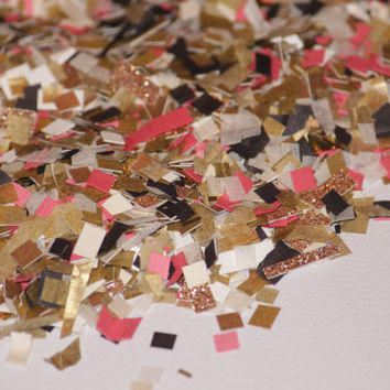 Confetti, gold, ivory, glitter, birthday party, wedding, bridal shower, party decorations, baby shower, push pop filler
