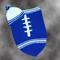 Indianapolis Colts Inspired Baby Cocoon & Hat (Newborn to 3 months)