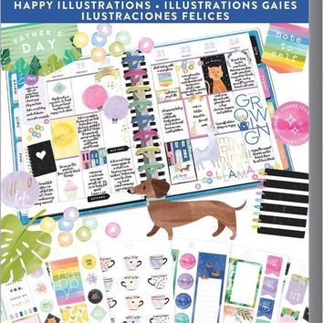 Happy Planner Value Pack Stickers - Happy Illustrations