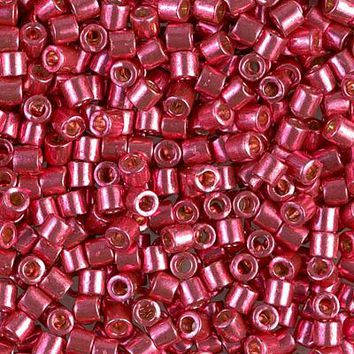 TB-DBL-1841 - Tube Duracoat Galvanized Lt Cranberry 8/0 Miyuki Delica Bead | Approx 8.2g Tube