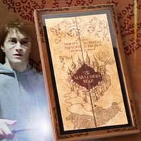 The Noble Collection: Marauders Map Display Case