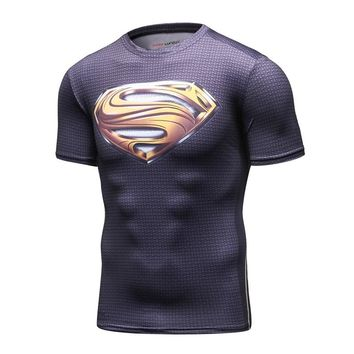 New 2016 Cody Lundin Men Civil War Tee Compression T Shirts Marvel Avengers Costume DC Comics Superhero Tee Tops for Male