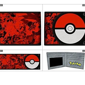Pokemon Pokeball PU Bifold Wallet Go New